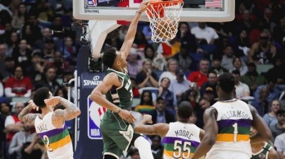 NBA, 4 febbraio 2020: i Bucks sfondano in casa dei Pelicans, Lakers a valanga sugli Spurs