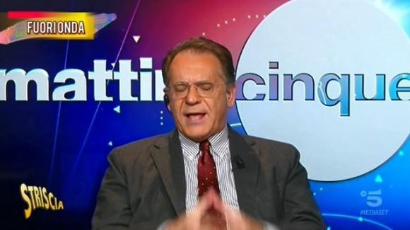 Mattino Cinque, sfuriata di Alessandro Cecchi Paone durante il fuori onda