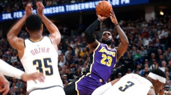 NBA, 12 febbraio 2020: i Lakers superano all'overtime fuori casa i Nuggets, i Jazz spengono gli Heat