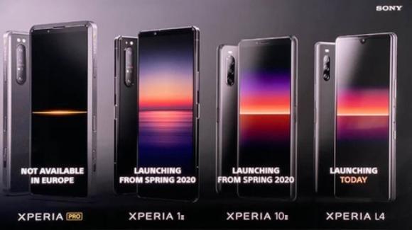 Sony ufficializza i cameraphone Xperia 1 Mark II, Xperia 10 Mark II ed Xperia Pro