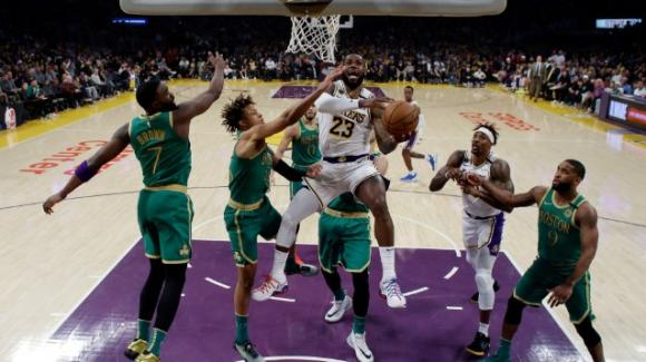 NBA, 23 febbraio 2020: i Lakers staccano all'ultimo i Celtics, i Raptors annichiliscono i Pacers
