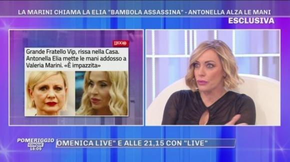 """Pomeriggio Cinque, Karina Cascella attacca Antonella Elia e Valeria Marini: """"Non sopporto nessuna delle due"""""""