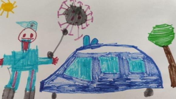 Coronavirus, un bimbo regala un disegno ai Carabinieri: la storia commuove l'Italia