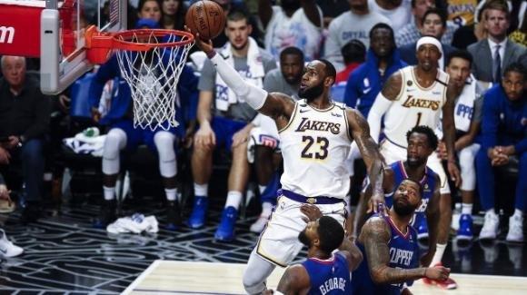 NBA, 8 marzo 2020: Lakers e James infuocati bruciano i Clippers, i Thunder la spuntano sui Celtics