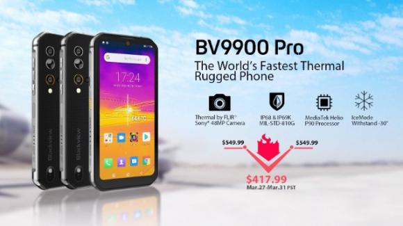 Blackview BV9900 Pro: rugged phone ancora più potente, con termocamera