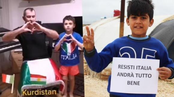 """La battaglia contro il coronavirus: """"Resisti Italia"""""""