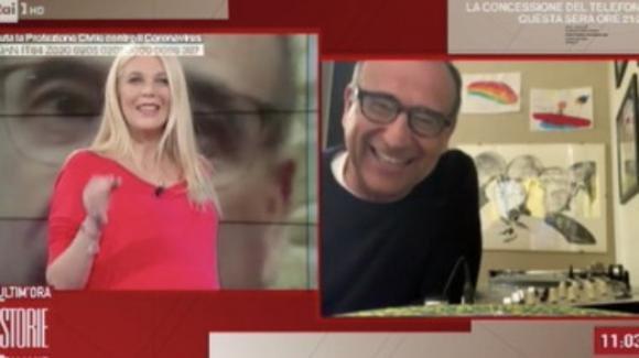 Storie Italiane, Carlo Conti fa una dedica speciale alla figlia di Eleonora Daniele