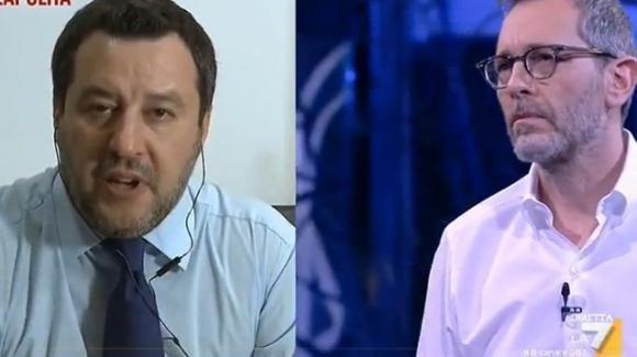 Matteo Salvini accusa Corrado Formigli di fare una trasmissione parziale e poco obbiettiva