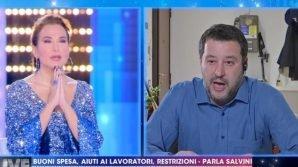 Live – Non è la D'Urso, la preghiera in diretta tra Barbara D'Urso e Matteo Salvini