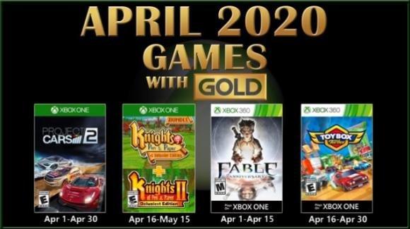 Games with Gold, Aprile 2020: i nuovi titoli gratuiti per Xbox