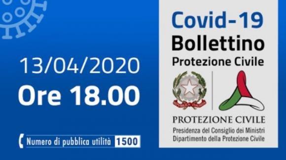 Coronavirus: bollettino della Protezione Civile per il 13 Aprile
