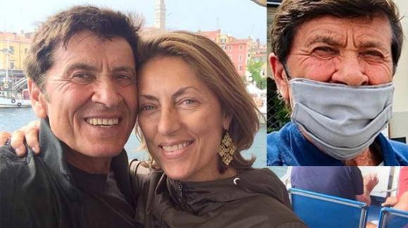 """Gianni Morandi, la moglie lo bacchetta: """"La mascherina deve coprire anche il naso"""""""