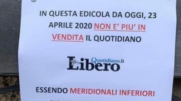 """Le edicole del Sud boicottano il giornale diretto da Vittorio Feltri: """"Essendo inferiori non vendiamo più Libero"""""""