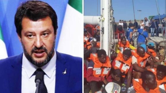 """Matteo Salvini parla nuovamente dei migranti: """"Aumento del +345% di sbarchi"""""""