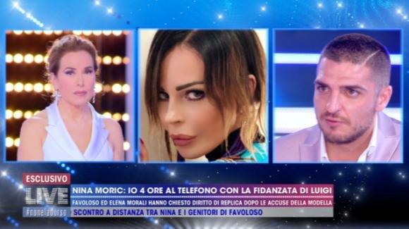 """Live – Non è la D'Urso, Luigi Mario Favoloso denuncia Nina Morić: """"Non ho mai ricattato Elena Morali"""""""