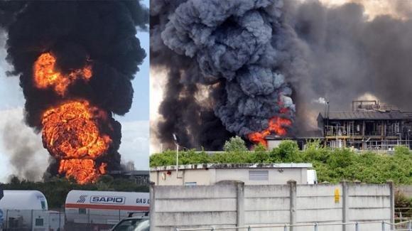 Incendio di sostanze tossiche a Marghera