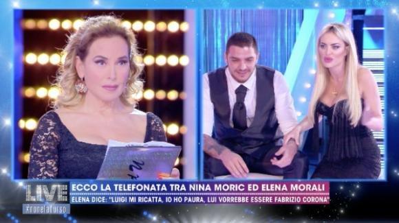 """Live – Non è la D'Urso, Elena Morali e Luigi Favoloso rispondono alle accuse di Nina Morić: """"Non c'è nessun ricatto"""""""