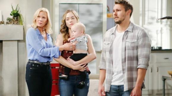 Beautiful, anticipazioni americane: Hope nega a Steffy di vedere Beth venendo meno ai patti