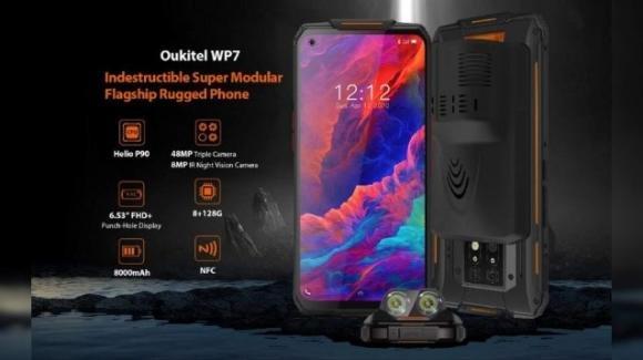 Oukitel WP7: in arrivo il rugged phone con visione notturna e lampada sterilizzatrice