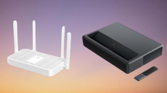 Redmi e Xiaomi a braccetto, con un router Wi-Fi 6 e un proiettore 4K HDR10