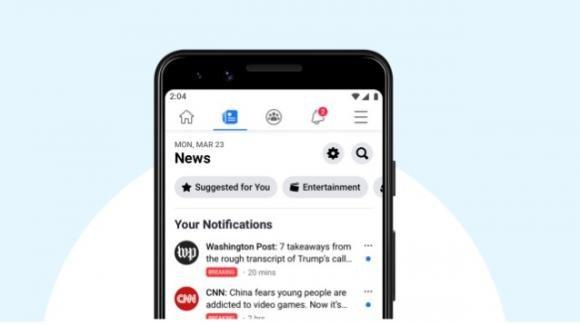 Facebook: parte (negli USA) la sezione News, con editori nazionali e locali