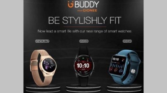 Gionee presenta un nuovo trio di smartwatch per il benessere e il fitness