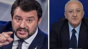 Continua lo scontro tra Salvini e De Luca:
