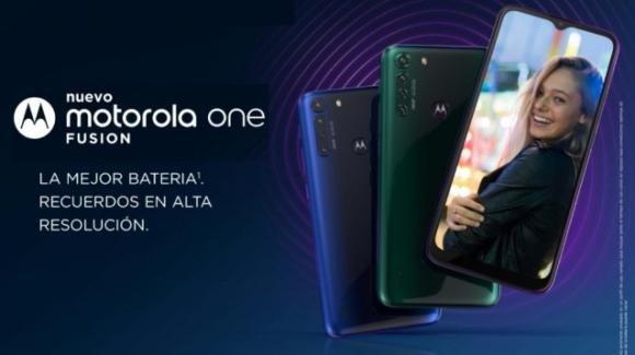 Moto One Fusion: listato in America Latina, con quadcam e maxi batteria