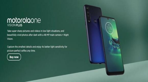 Moto One Vision Plus: medio-gamma già visto, ma con molto più storage