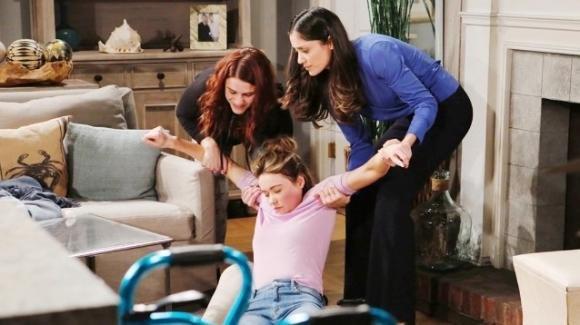 Beautiful, anticipazioni americane: Sally rapisce Flo e vuole rimanere incinta di Wyatt