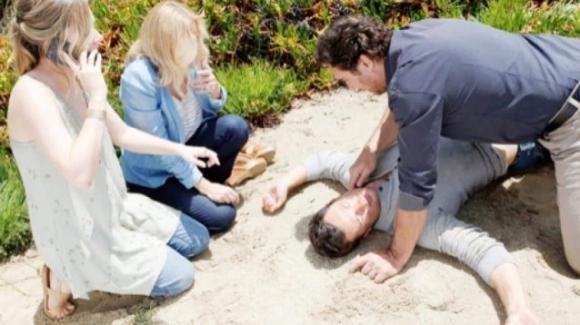 Beautiful, anticipazioni americane: Brooke spinge Thomas giù dalla scogliera e chiede aiuto a Bill per salvarsi