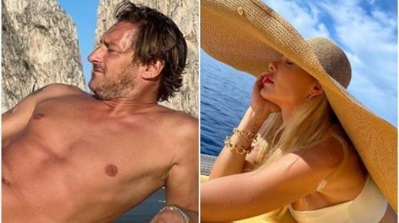 Francesco Totti sirenetto a Capri: è sfida sexy con la moglie Ilary