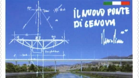 Il nuovo ponte di Genova omaggiato in un francobollo