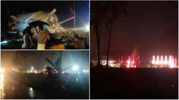 India: aereo esce fuori pista in fase di atterraggio e precipita in una vallata