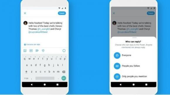 Twitter: test per traduzioni automatiche, roll-out per tutti del controllo sulle risposte