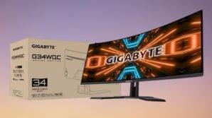 """GigabyteG34WQC: ufficiale il display curvo ultra-wide da 34"""" per gaming e creativi"""