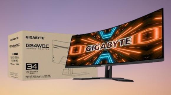 "Gigabyte G34WQC: ufficiale il display curvo ultra-wide da 34"" per gaming e creativi"