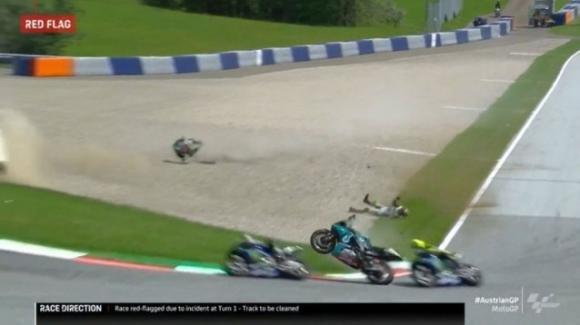 Moto GP: Valentino Rossi ancora sotto shock dopo l'incidente di Spielberg