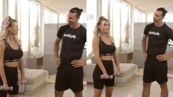 Diletta Leotta e Ibrahimovic, si presenta da single ma era con la moglie