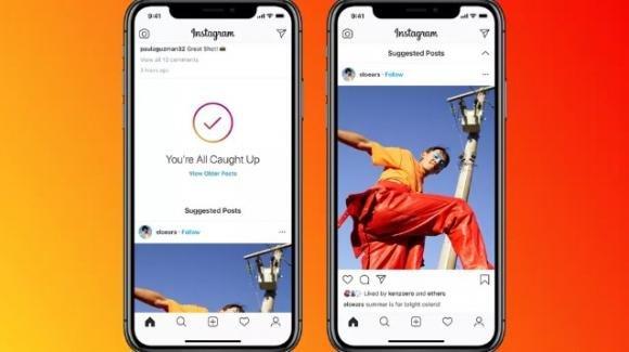Instagram mostrerà i post suggeriti nel Feed personale