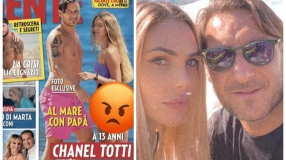 """Francesco Totti e Ilary Blasi contro """"Gente"""" per la foto del lato B della figlia 13enne"""