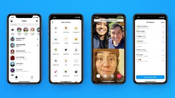 Messenger Rooms: migliorate nell'adesione/gestione, e con sfondi personalizzati