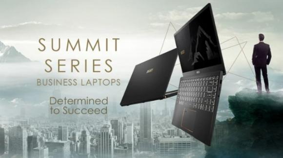 MSI inaugura la serie dei portatili SUMMIT dedicati alle vette professionali