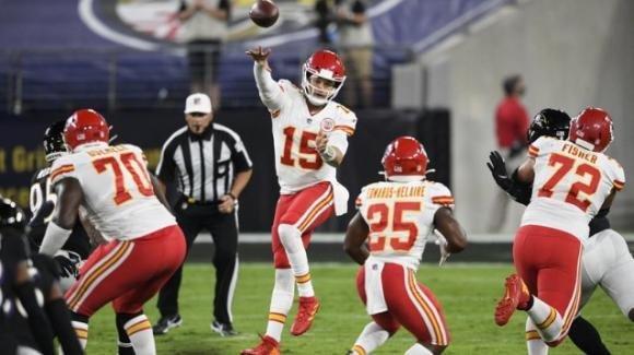 NFL 2020, 3a settimana: Mahomes fenomenale, i Chiefs sopravanzano i Ravens. I Bills sconfiggono i Rams