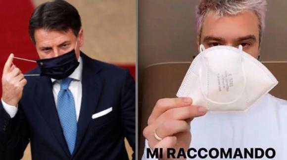 """Conte chiede aiuto a Fedez e alla Ferragni: """"Aiutatemi a far capire ai ragazzi che devono usare la mascherina"""""""
