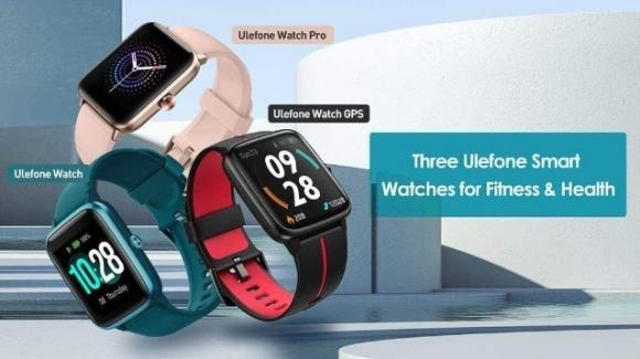 Ulefone Watch, Ulefone Watch Pro, Ulefone Watch GPS: wearable low cost per tutti i gusti