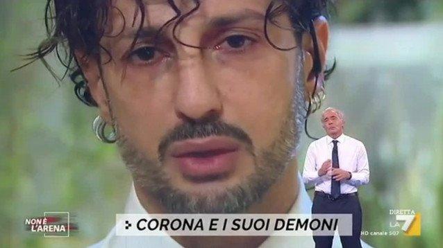 Non è l'Arena, Fabrizio Corona contro Gianluca Vacchi e Flavio Briatore: