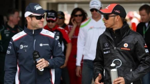 """L'opinione di Barrichello su Hamilton: """"Penso sia migliore di Schumacher"""""""