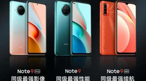 Redmi Note 9 Pro 5G, Redmi Note 9 5G e Redmi Note 9 4G: ufficiali con specifiche e prezzi