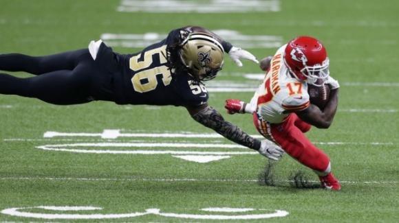 NFL 2020, 15a settimana: supersfida vinta dai Chiefs in casa dei Saints, i Packers prevalgono sui Panthers